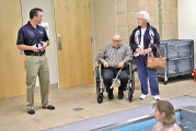 Aquatic therapy demonstration