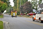 Gas line accident shuts down street
