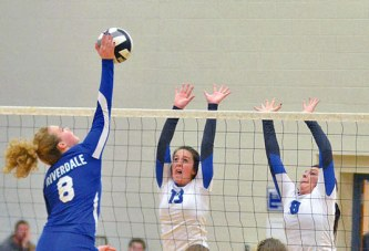 State-ranked Eagles top Falcons in 3 sets