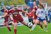 Falcons score twice with wind at backs to advance
