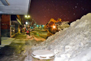 Crews get busy early clearing snow
