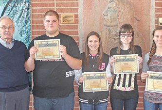 Students honored