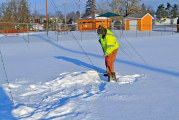 Digging out snow