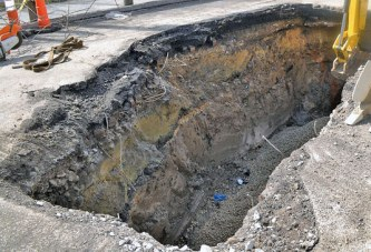 City finds apparent fallout shelter in second sinkhole in 3 weeks