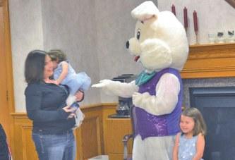 Bunny visits