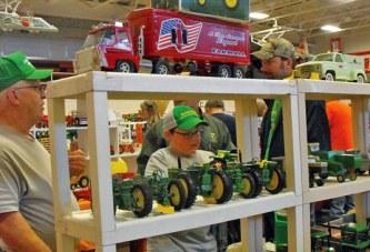 Farm toys displayed at FFA show