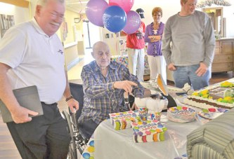 Sycamore native recalls historic flight at his 100th birthday party