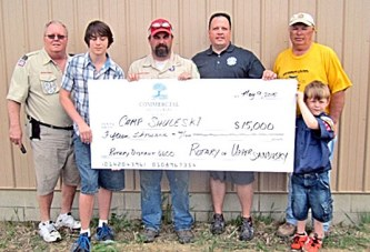 Rotary Club donates $15,000 to youth camp in rural Sycamore