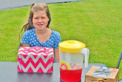 Upper girl, 8, raises funds for brain cancer research with a drink stand
