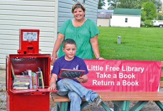 Harpster Little Free Library opens