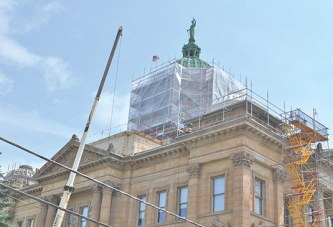 Airblasting set to begin soon at courthouse