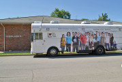 Technology bus stops at Sycamore's library