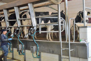 SWCD county officials tour stops at dairy farm