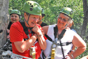 Women, ages 48-69, check off ziplining from their bucket list