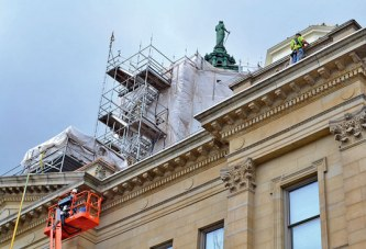 Courthouse restoration project on track to be done before Nov.