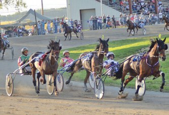 Harness racing held at county fair