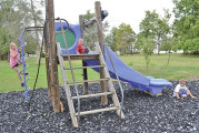 Many improvements complete at Harpster Lewis Park playground