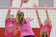 Warriors top Golden Bears in 'Volley for Cure' match