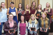 Upper girls tennis awards