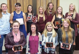 Upper girls tennis awards