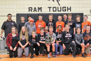 Upper junior high wrestling takes 1st place in home East of Chicago tourney