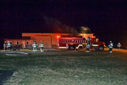 Fire departments team up to extinguish nighttime fire