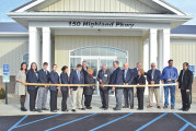 Wyandot Mutual cuts ribbon in Upper Sandusky