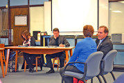 Teachers, staff turn out to support new Wynford superintendent Fox