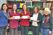 Kappa chapter presents Upper teachers with gift certificates