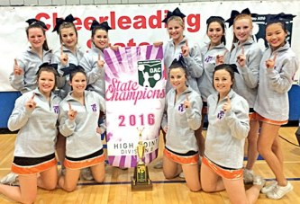 Upper Sandusky cheerleading squads take 1st at state championships