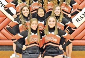 Upper junior varsity cheerleaders