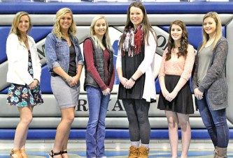 Wynford winter homecoming court