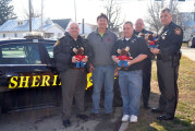 Upper Sandusky Moose Lodge gives Tommy Moose dolls to local agencies