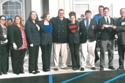 Upper Sandusky High School DECA receives $1,000 check from Wyandot Mutual