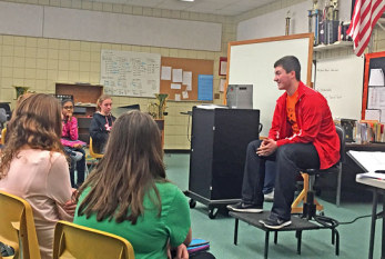 USHS grad returns to hometown to share experiences in Buckeyes band