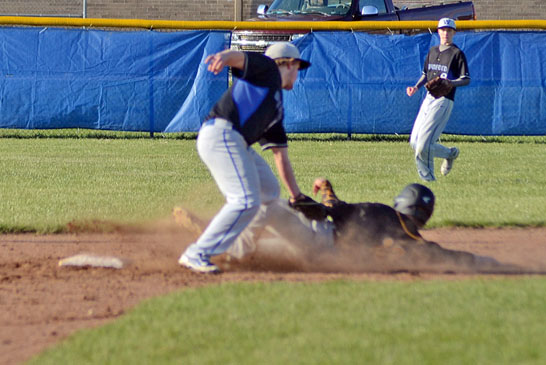 Out at second