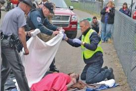 Agencies present mock auto crash