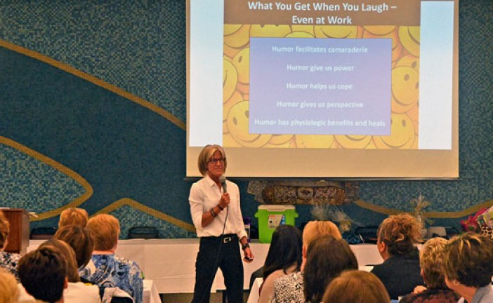 Laugh a little bit: Carey Professional Women's Luncheon speaker encourages healthy does of humor in the workplace