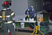 Three arrested after active meth lab found in Upper