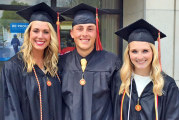 Upper trio graduates together from Otterbein
