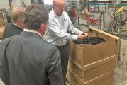 Wyandot Co. Commissioners tour Uni-Grip facility