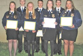 Upper chapter, degree recipients honored at state FFA convention