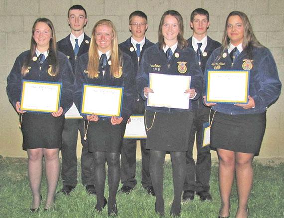 State FFA degree recipients