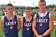 Carey holds on for 8th place in 4-by-8