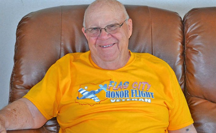 Veteran takes Flag City Honor Flight
