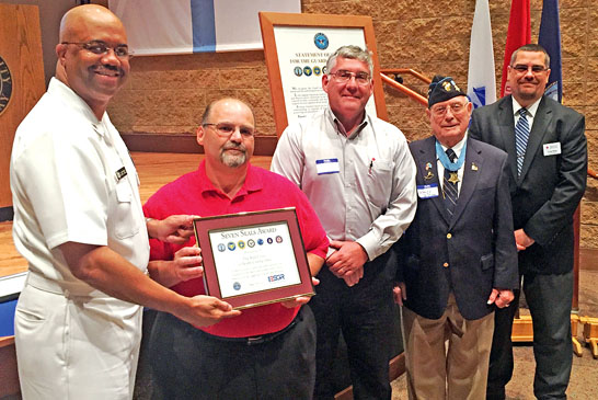 Red Cross awarded for service
