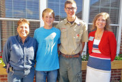 Scouts partner with Fairhaven for Eagle projects in courtyard