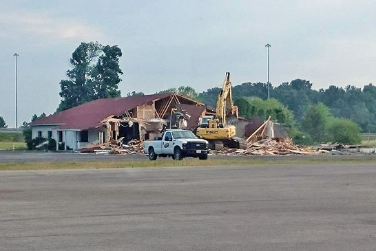 Woody's being demolished