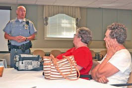 OSP trooper visits Wyandot County to spread awareness about mature driving