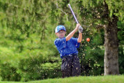 Golf sectional suspended by rain